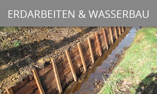 Erdarbeiten und Wasserbau | Lohnunternehmen Janssen Aurich